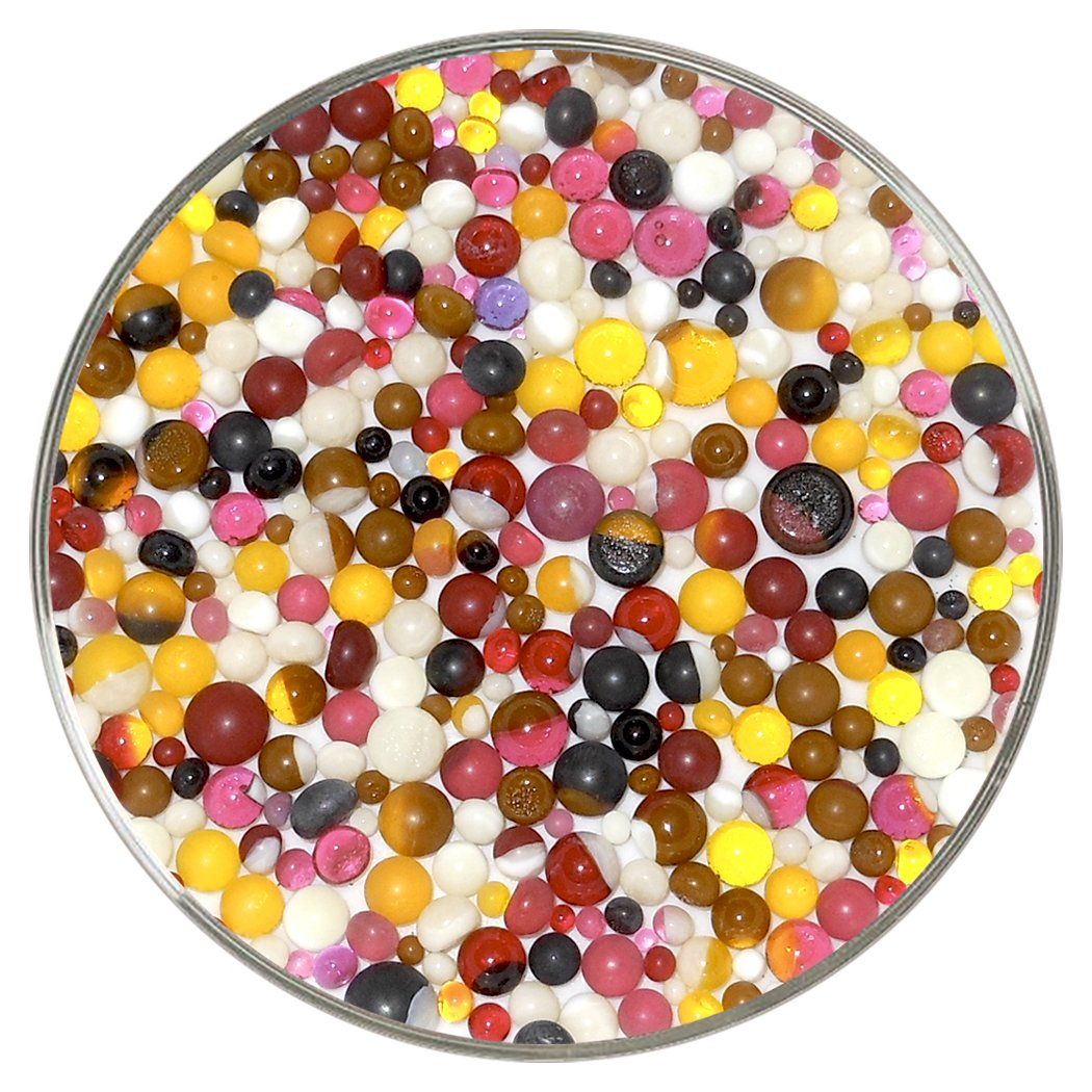 Banana Split Designer Collection Mix Frit Balls Made from Bullseye Glass by New Hampshire Craftworks 90COE New Larger 1oz Size
