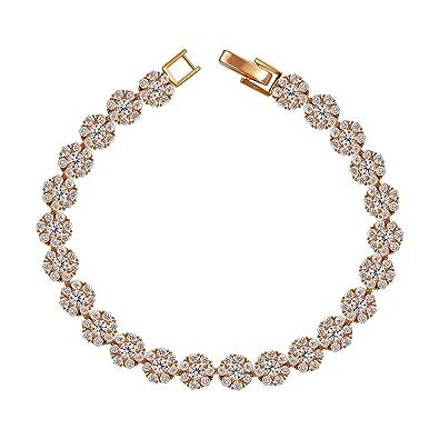 High Quality Chamrs Women Link Bracelet Paved Colorful Zirconia Evil Eye Statement Adjustable Chain Bracelet For Gift Jewelry High Quality Materials Bracelets & Bangles
