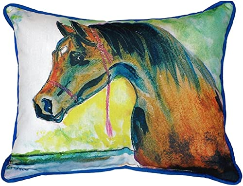 Betsy Drake Prize Horse Indoor Outdoor Pillow, 20 x 24