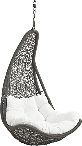 Modway EEI-2657-GRY-WHI-SET Abate Wicker Rattan Outdoor Patio