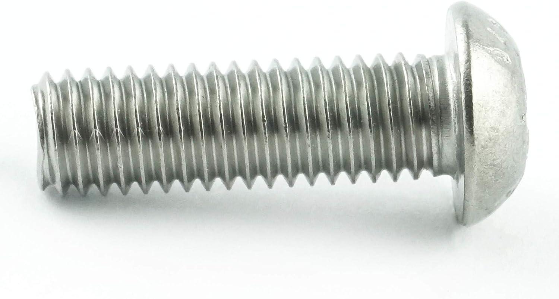 Edelstahl A2 V2A M6 x 50 mm Linsenkopfschrauben mit Innensechsrund TX rostfrei - ISO 7380 Linsenkopf Schrauben mit Flachkopf 10 St/ück Gewindeschrauben Eisenwaren2000