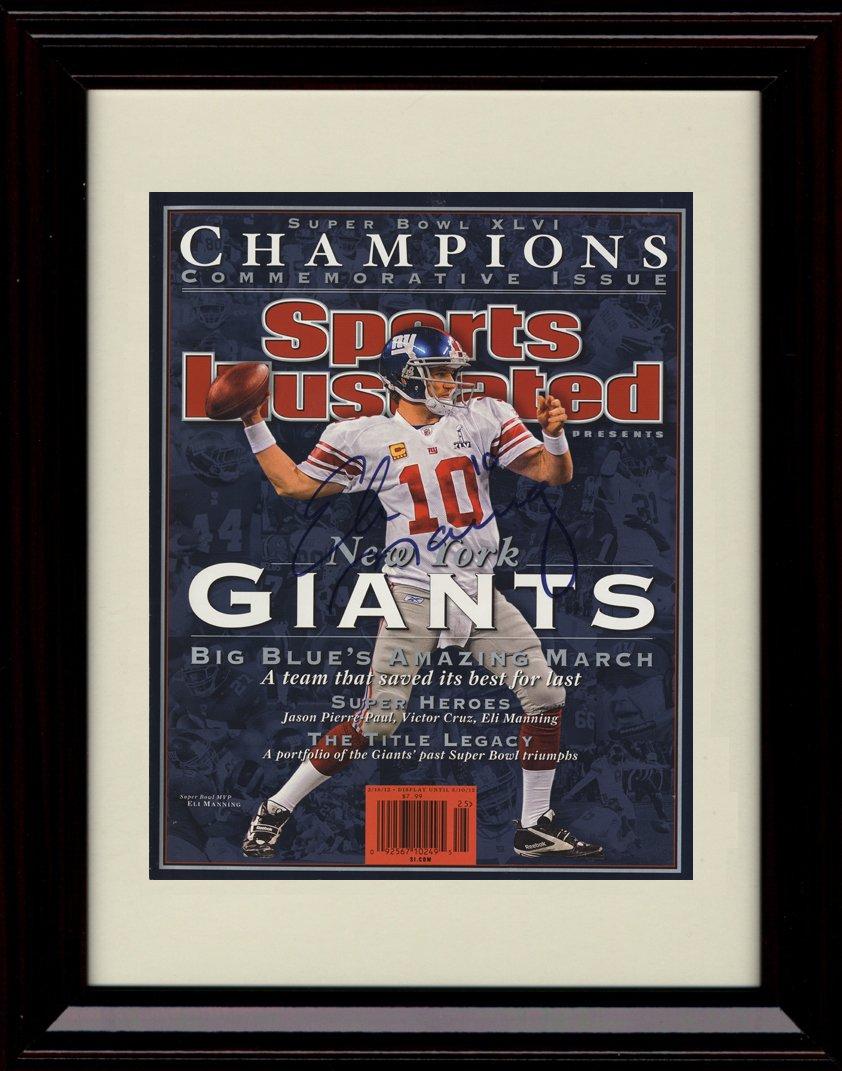 フレーム付きEli Manning Sports Illustrated Autographレプリカ印刷 – 2012   B01MRMBKUF