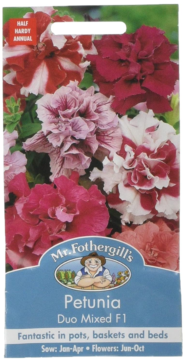 Mr. Fothergill's 11998 Duo Petunia Mixed F1 Flower Seeds Mr Fothergill?s Seeds Ltd