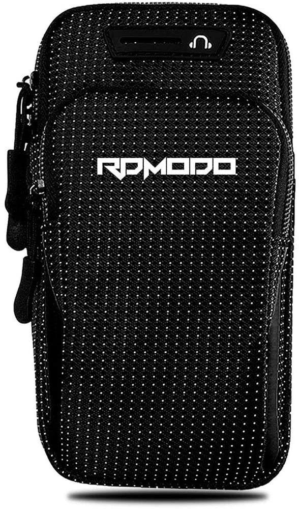 RDMODO Armband for Cell Phone Running Workout Arm Bands for iPhone 11 12 Pro Max Xr Xs Max 10 8 7 Plus Samsung Galaxy S20 S10 S9 S8 S7 Note Pixel Card Keys Arm Phone Holder Large Adustable Women Men
