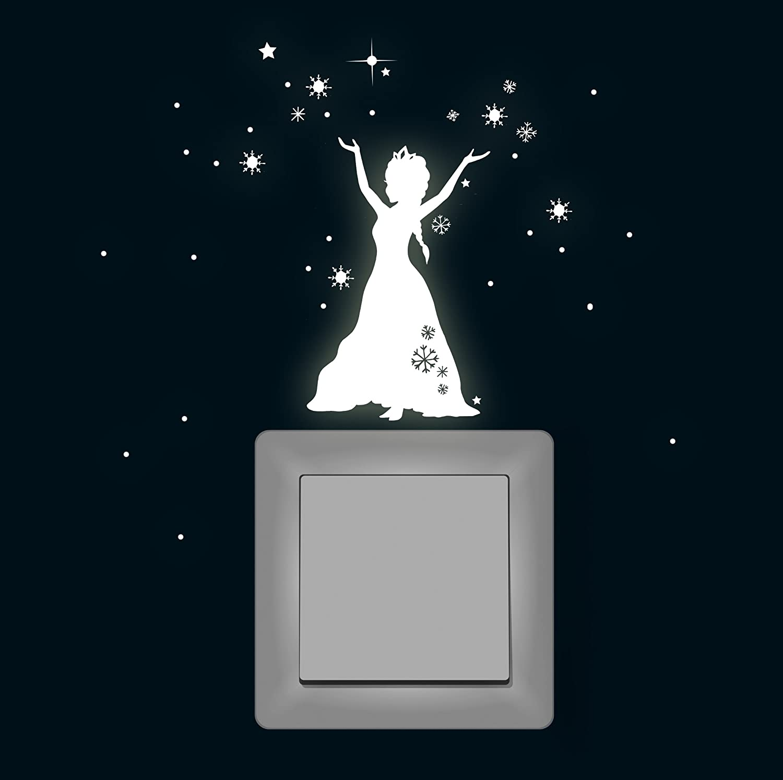 ilka parey wandtattoo-welt M1648 Sticker mural fluorescent pour interrupteur Motif: La Reine des Neiges ilka parey wandtattoo welt