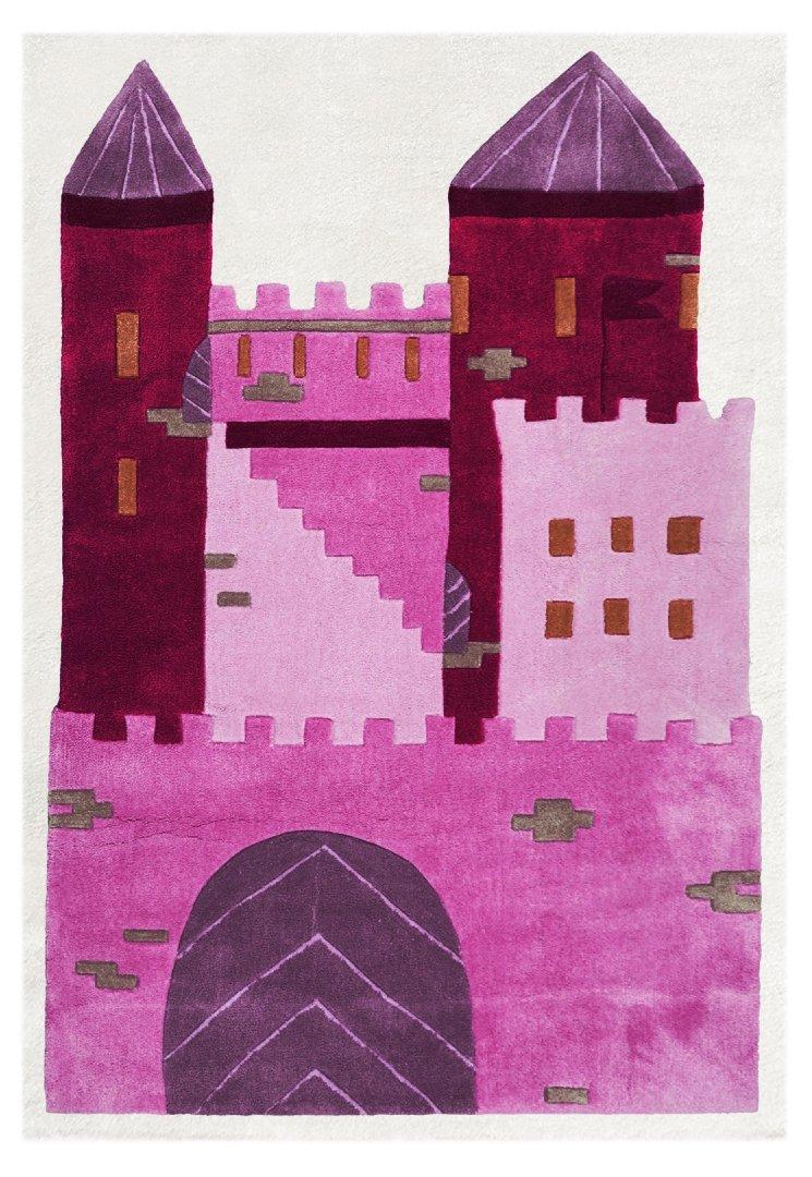 Livone Kinderteppich Kinderteppich Kinderteppich Happy Rugs SCHLOSS PRINZESSIN pink 120 x 180cm 8c8270