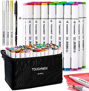 80 set Marker Stift Twin Tip Textmarker Graffiti Pens Manga Für Schule Drawing