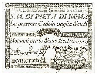 Cartamoneta.com 4 Scudi CEDOLA Sacro Monte della PIETÀ di Roma 14/09/1975 SUP