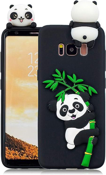 3C Collection Coque Samsung S8 Plus Silicone Panda, Coque Galaxy S8 Plus Silicone Panda, Animaux Kawaii 3D Panda Housse pour Samsung Galaxy S8 Plus ...