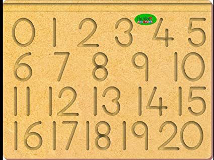 The Kiddy Depot - Number Tracing 0 - 20 Tracing Board