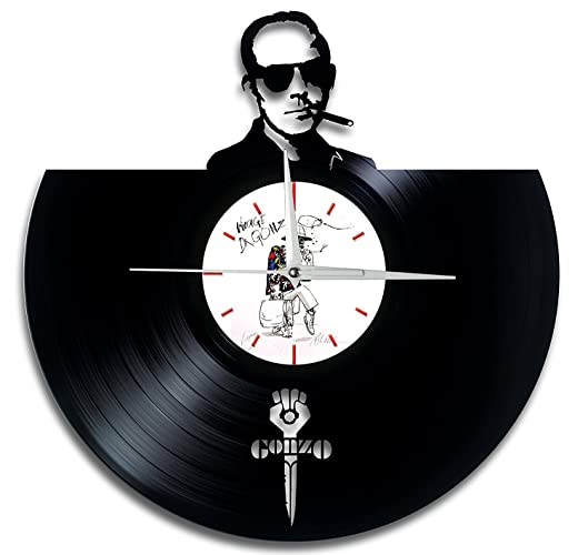 Gonzo White Vinyl Record Wall Clock Handmade Perfect Gifts For Birthday Wedding Anniversary Valentines Mothers Fathers Day Gift Ideas For Men And