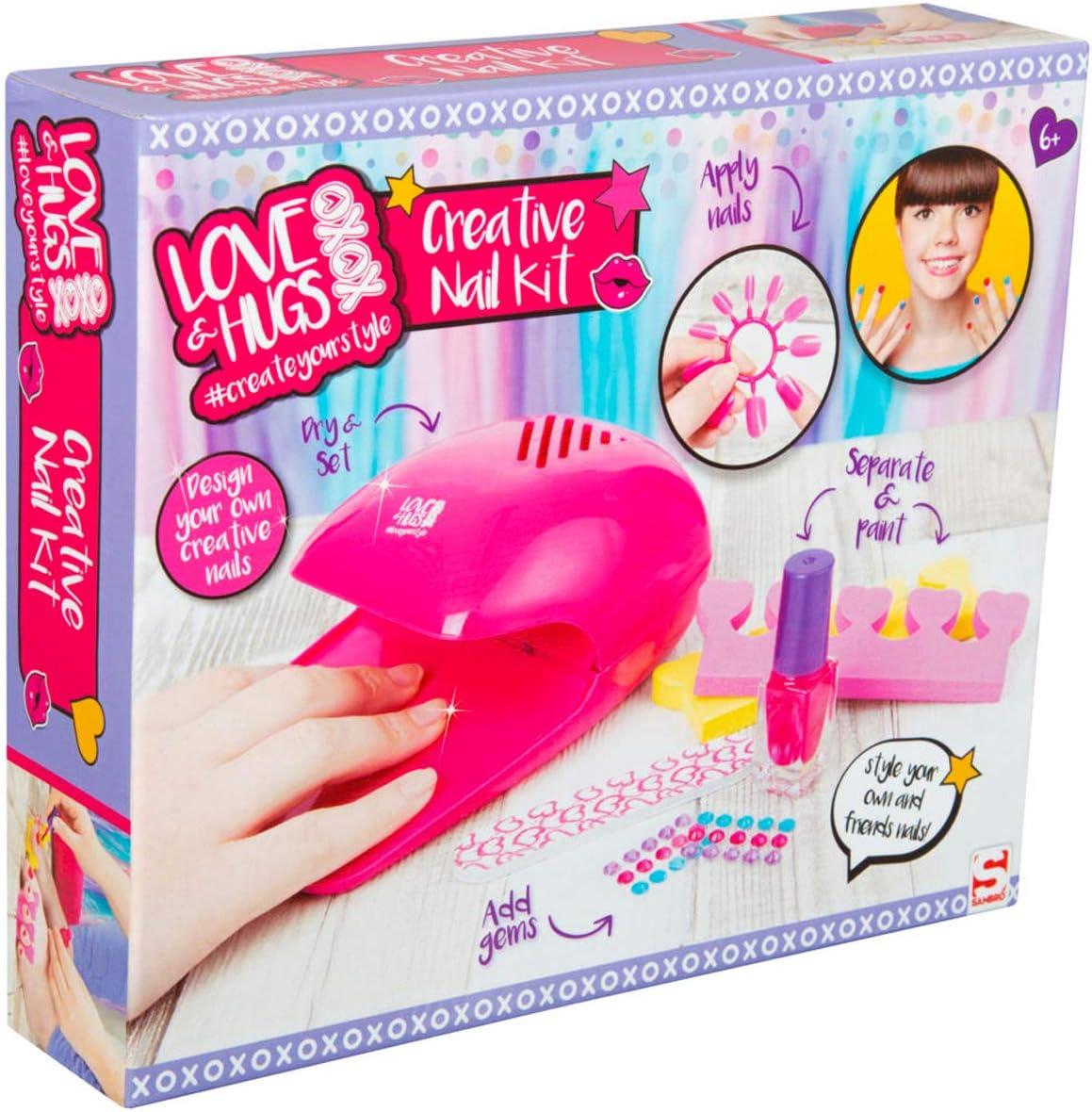Love & Hugs Set de Esmalte de Uñas para Niñas, Kit De Nail Art ...