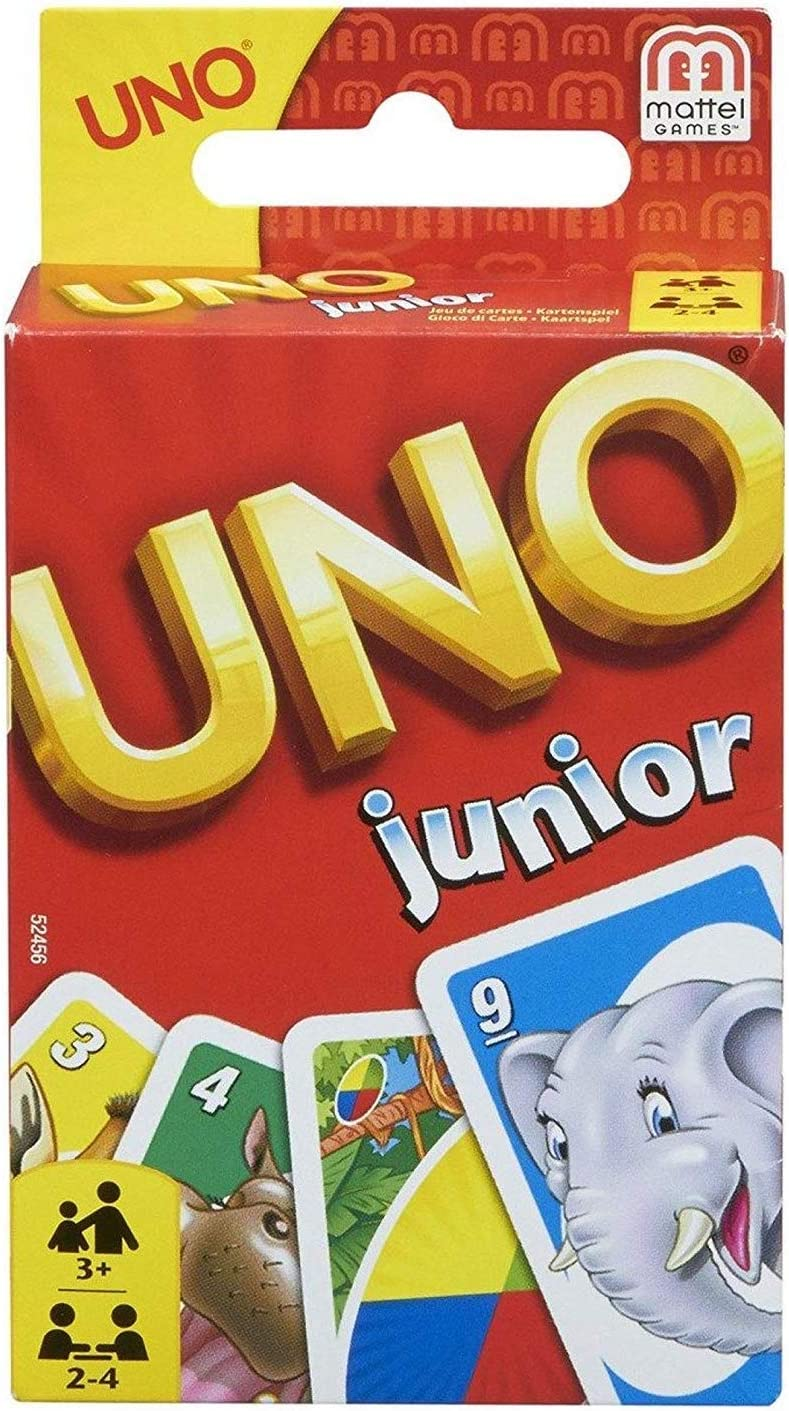 Mattel Games UNO Junior, juegos de mesa para niños (Mattel 52456)