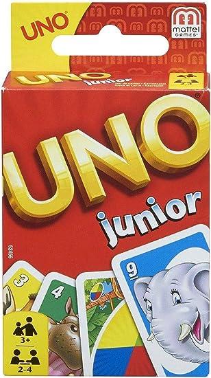 Mattel Games UNO Junior, juegos de mesa para niños (Mattel 52456 ...