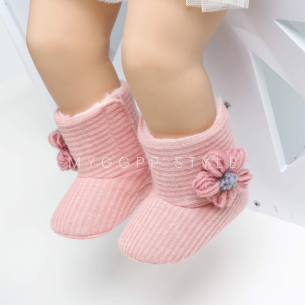 LIVEBOX Baby Premium Soft Sole Bow Anti-Slip Mid Calf Warm Winter Infant Prewalker Toddler Snow Boots
