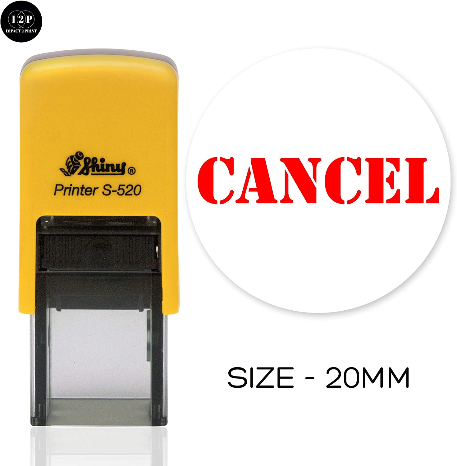 IMPACT2PRINT Shiny 842 UNPAID Self Inking Rubber Stamp Business Custom Stamp Office Stationary