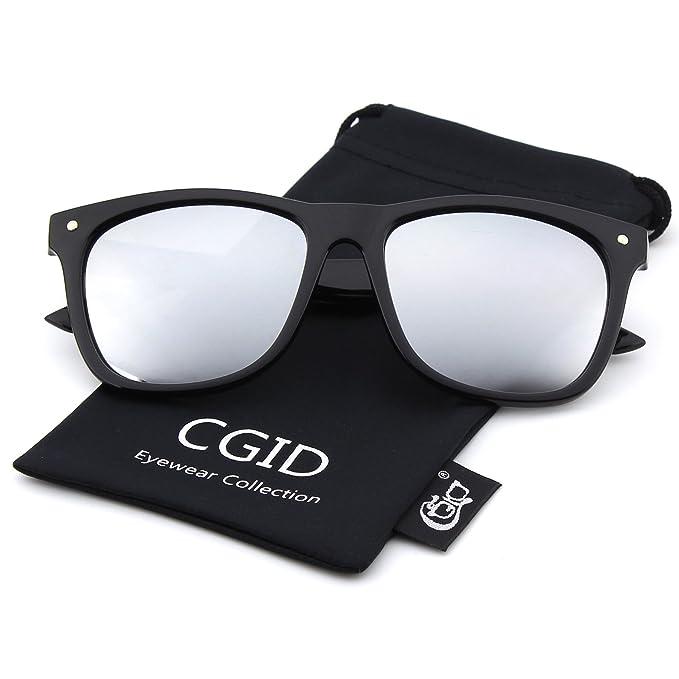 CGID CM22 Gafas de Sol Clubmaster Wayfarer Espejados Retro ...