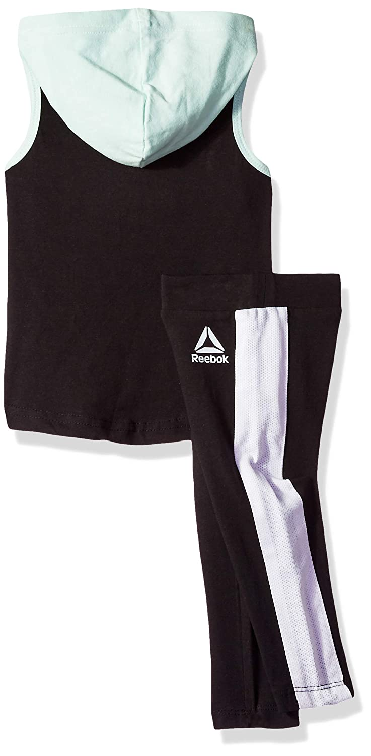 Reebok Girls Hooded Athletic Tank Top and Pull-on Legging Set