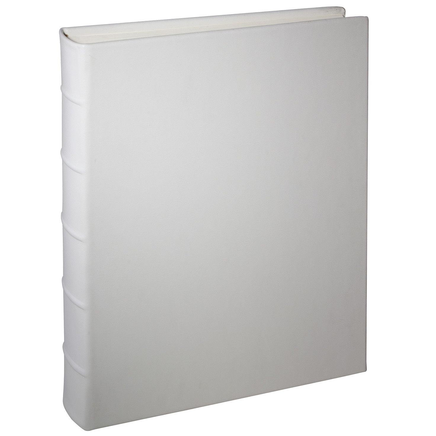 Wedding White Leather Medium Bound Album by Graphic Image - 9x12