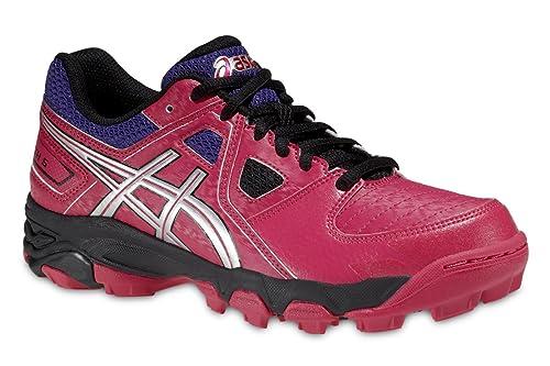 Asics - Zapatillas de Running de Material Sintético para niña Rosa ...