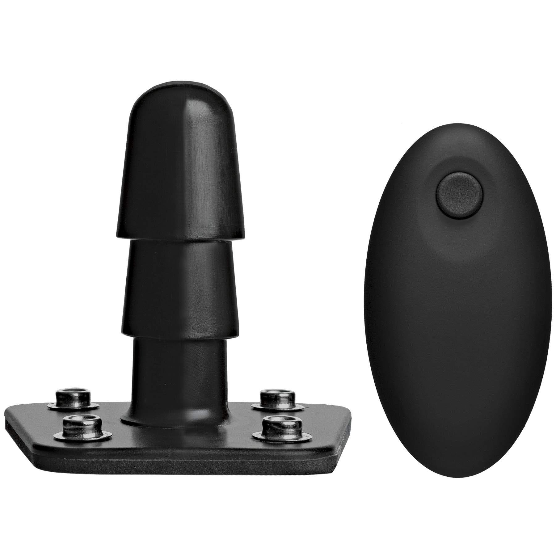 Doc Johnson Vac-u-Lock Vibrating Plug with Wireless Remote 7 Vibrating Functions, Black