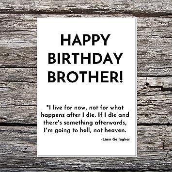 Funny AF Cards Funny Birthday Brother - Liam Gallagher ...