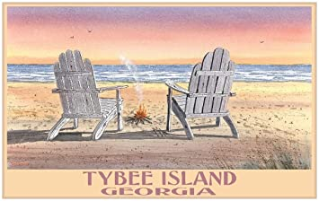 Adirondack chairs on beach Beach Themed Image Unavailable Image Not Available For Color Tybee Island Adirondack Chairs On Beach Amazoncom Amazoncom Tybee Island Adirondack Chairs On Beach Travel Art Print