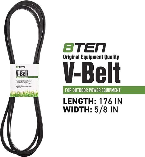 8TEN Deck Belt Toro 48 42 Inch Deck Z Master Z400 Z441 Z449 450 453 106-7369