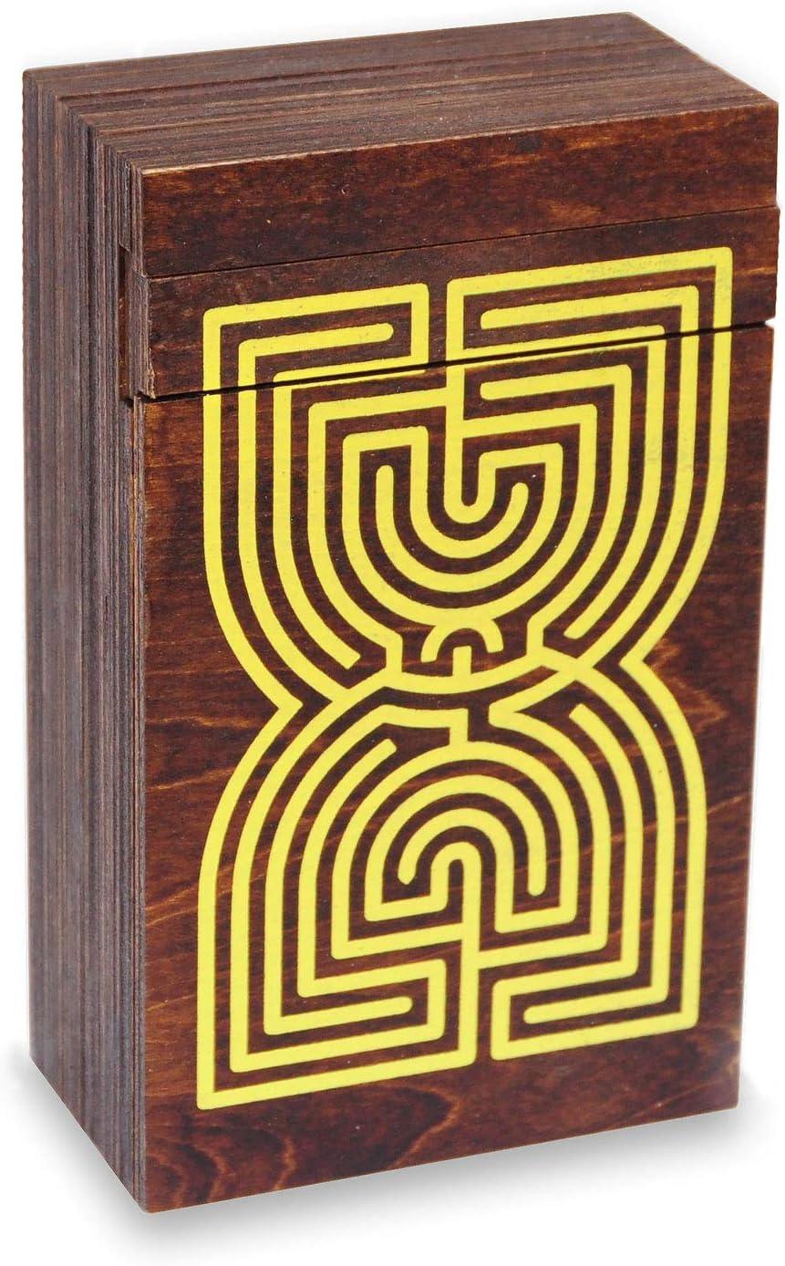 LOGICA GIOCHI Art. Cofre Laberinto - Rompecabezas de Madera - Caja Secreta - Dificultad 5/6 Increíble - Colección Leonardo da Vinci: Amazon.es: Juguetes y juegos
