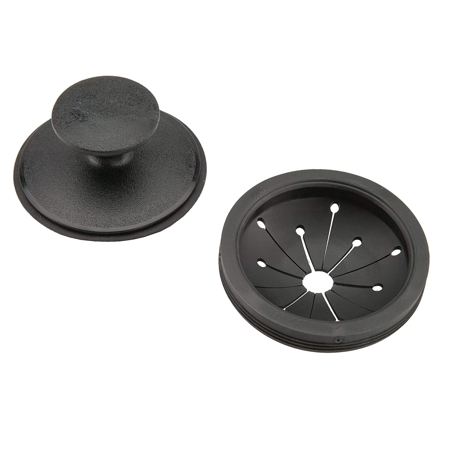 Waste King 1025 EZ Mount Garbage Disposal Stopper and Splash Guard, Black