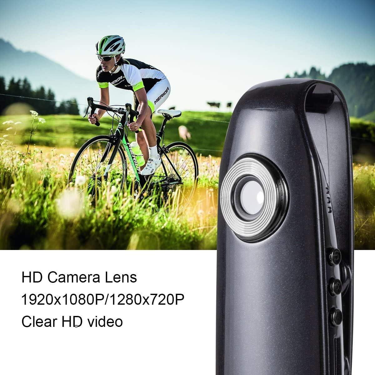 Lenofocus Mini c/ámara de cuerpo 1080P oculta Full HD port/átil clip de bolsillo c/ámara de v/ídeo port/átil peque/ña DV-DVR-Dash c/ámara para la seguridad de Homebikes en el coche
