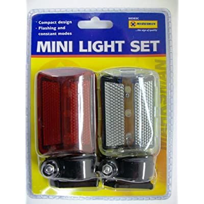 2 PC PIECE MINI BICYCLE CYCLE BIKE LIGHT LIGHTS by Marksman