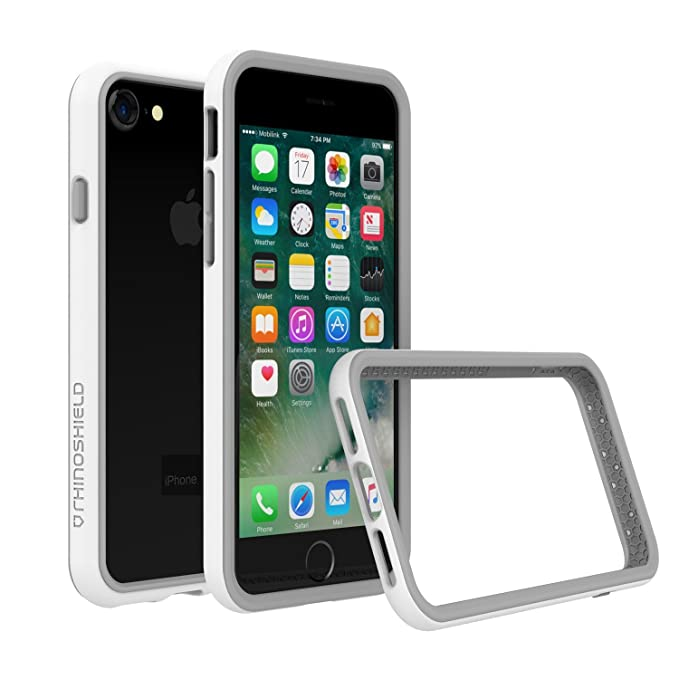 official photos fc04d 4028f RhinoShield Bumper Case for iPhone 8 / iPhone 7 [NOT Plus] | [CrashGuard ]  | Shock Absorbent Slim Design Protective Cover [3.5 M / 11ft Drop ...