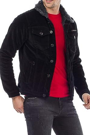 offizieller Shop bester Großhändler modischer Stil Cipo & Baxx Herren Cord Jacke mit Pelzbesatz Flauschkragen ...