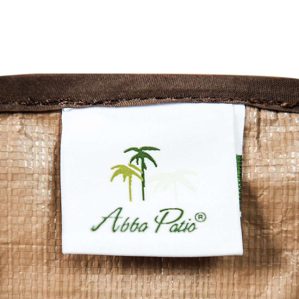 Abba Patio Gas Grill Cover, 53-inch Water Resistant BBQ Grill Cover, Brown by Abba Patio (Image #7)