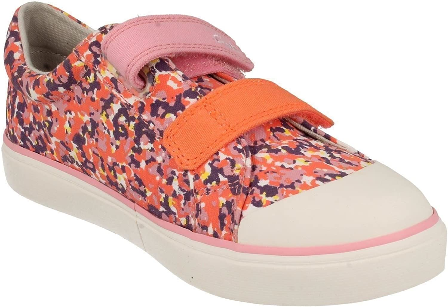 US Size 13W Pink Canvas Clarks Girls Summer Canvas Pumps Brill Ice EU Size 31 UK Size 12.5G