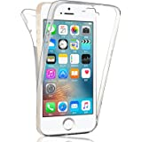 Coque iPhone SE / 5S / 5, SAVFY Coque Silicone Intégral - Transparent