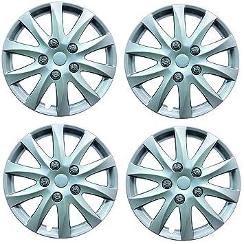 "Wing Mirrors World Peugeot 206 Hatchback 14 ""Phoenix Fundas para tapacubos de plástico Plata"