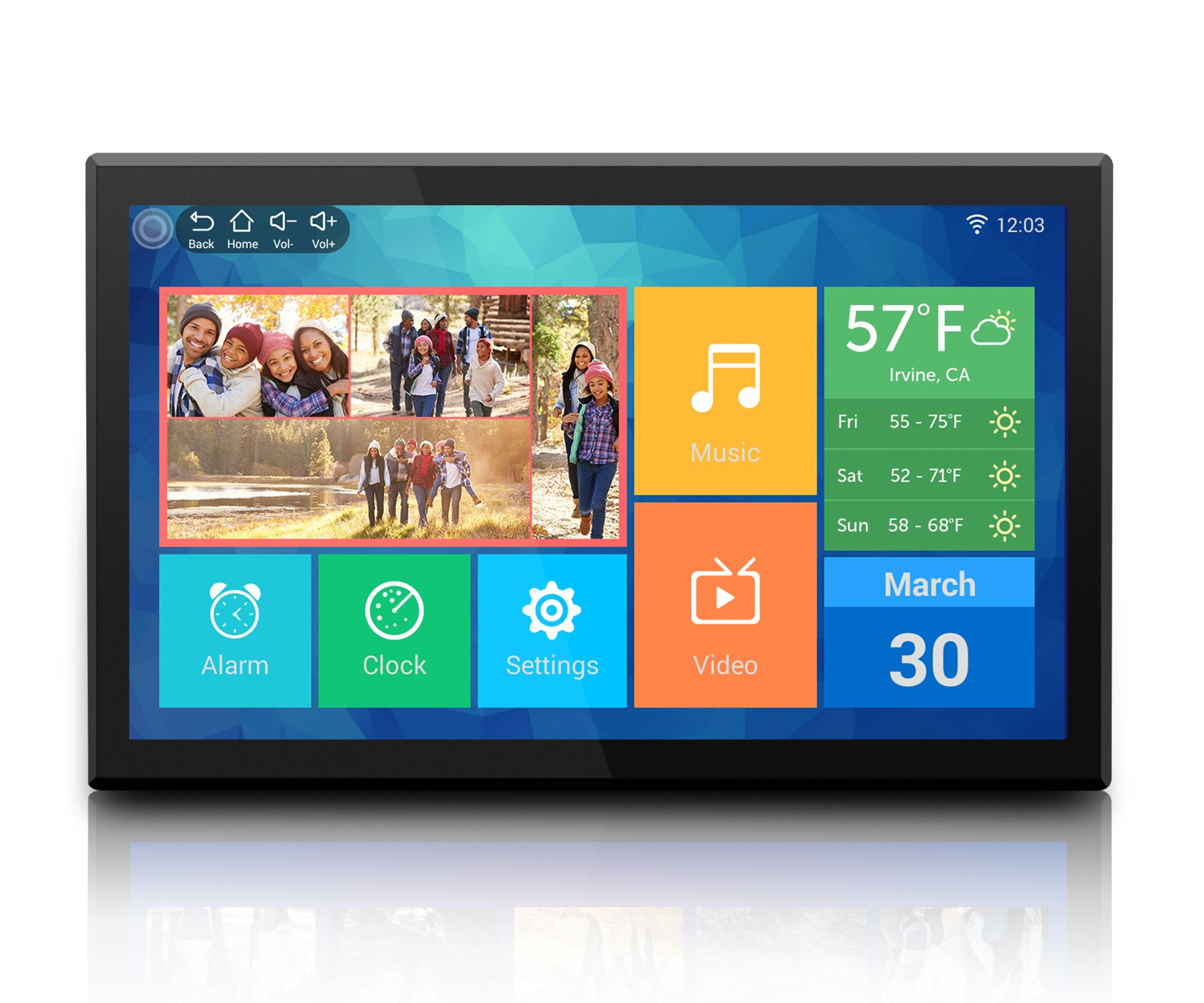 Aluratek (AWDMPF117F) 17.3'' Hi-Res WiFi Digital Photo Frame with Touchscreen IPS LCD Display & 8GB Built-in Memory (1920 x 1080 Resolution), Photo/Music/Video Support, Wall Mountable by Aluratek