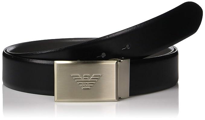 8f62a4833415 Emporio Armani ceinture homme en cuir raccourcie noir  Amazon.fr ...