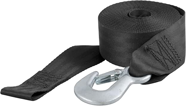 22 FOOT WINCH STRAP WEBBING WITH QUALITY HOOK /& pull handle  BOAT TRAILER CAR a
