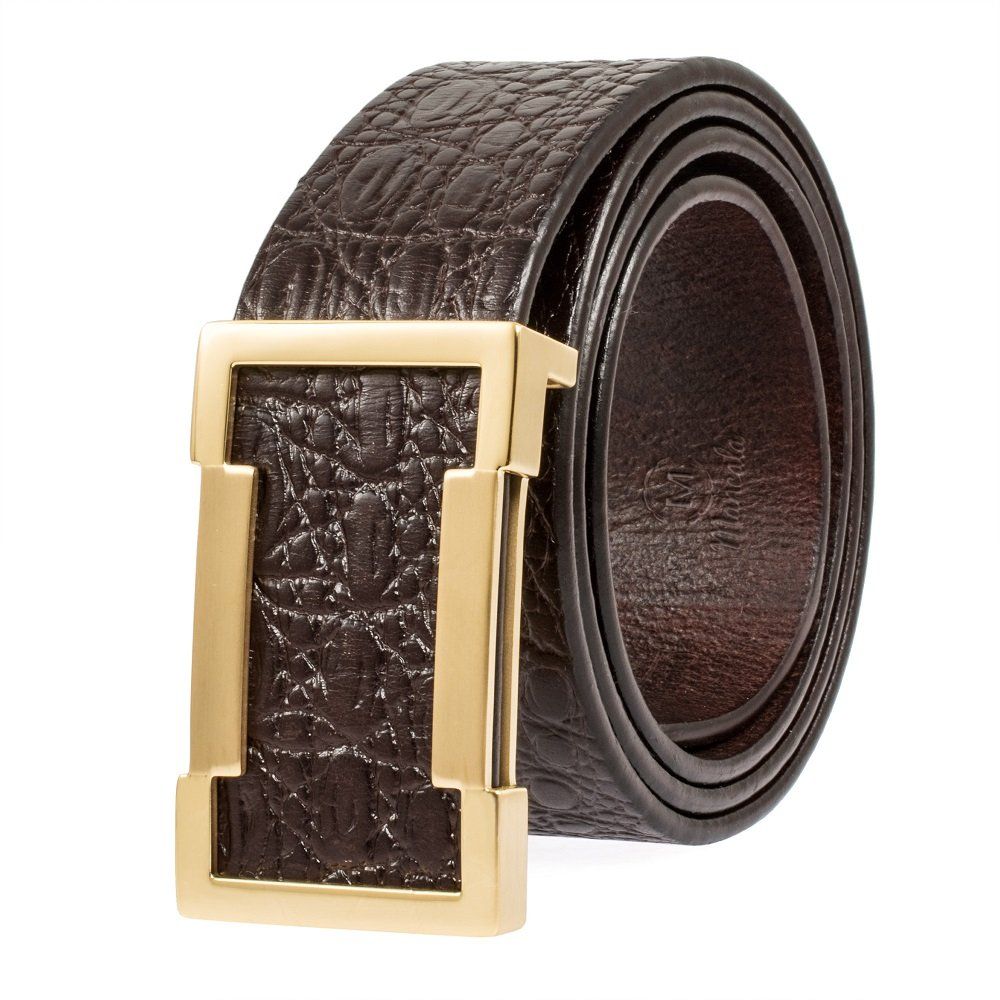 46 Martino Enclosed In an Elegant Gift Box Mens Leather Belt Genuine Leather Belts For Men