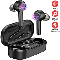 Wireless Earbuds, Mpow M9 Bluetooth Earbuds w/ 200 Hours Standby and HD Bass Stereo Sound/IPX7 Waterproof/Bluetooth 5.0 Wireless Earphones w/ 30 Hours Playtime, in-Ear Wireless Earphones w/Mic