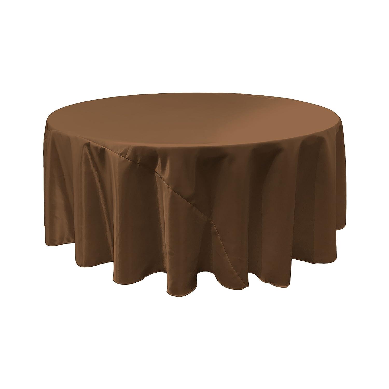 LA Linen Bridal Round Tablecloth, Satin, Gold, 120-Inch TCbridal120RGoldB14