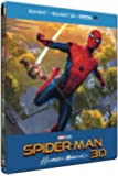SPIDER-MAN : HOMECOMING - STEELBOOK LIMITE BD 3D + 2D (UV) [Édition limité boîtier SteelBook - Blu-ray 3D + Blu-ray + Digital UltraViolet]