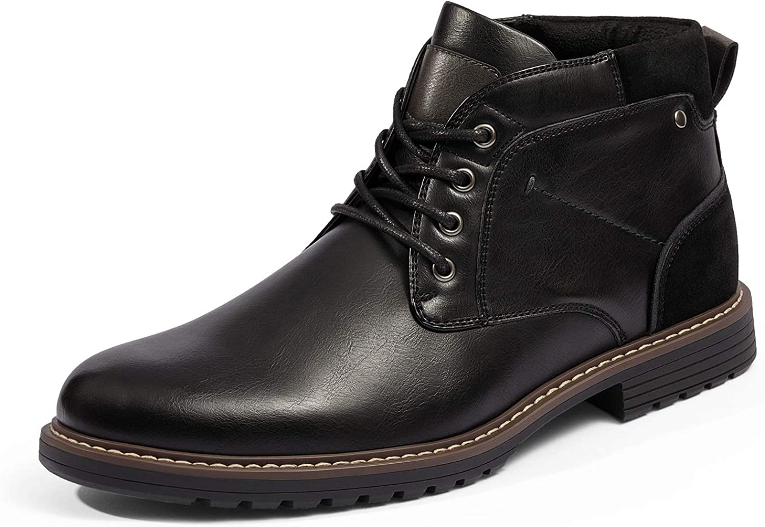 Bruno Marc Men's Chukka Dress Boots Casual Lace up Plain Toe Boot Shoes for Men