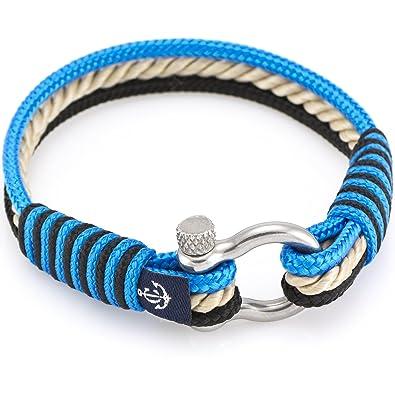 706fe6ec2b6838 Constantin Nautics - Yachting #4004 Bracelet Made from Nautical Cord with  Screw Clasp, Unisex: Amazon.co.uk: Jewellery