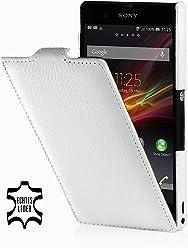 StilGut Esclusiva custodia UltraSlim in pelle per Sony Xperia Z, bianco