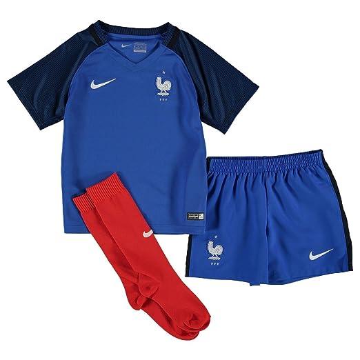 Nike Francia Home Mini Kit 2016 Baby Cobalto/wht de fútbol ...