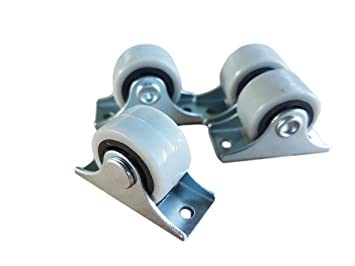 Ger/äte /& Ausr/üstung f/ür M/öbel drehbar kleine Mini-Rollen Doppelrollen 25/mm Gummirollen-Set aus Kunststoff Metall mit Platte